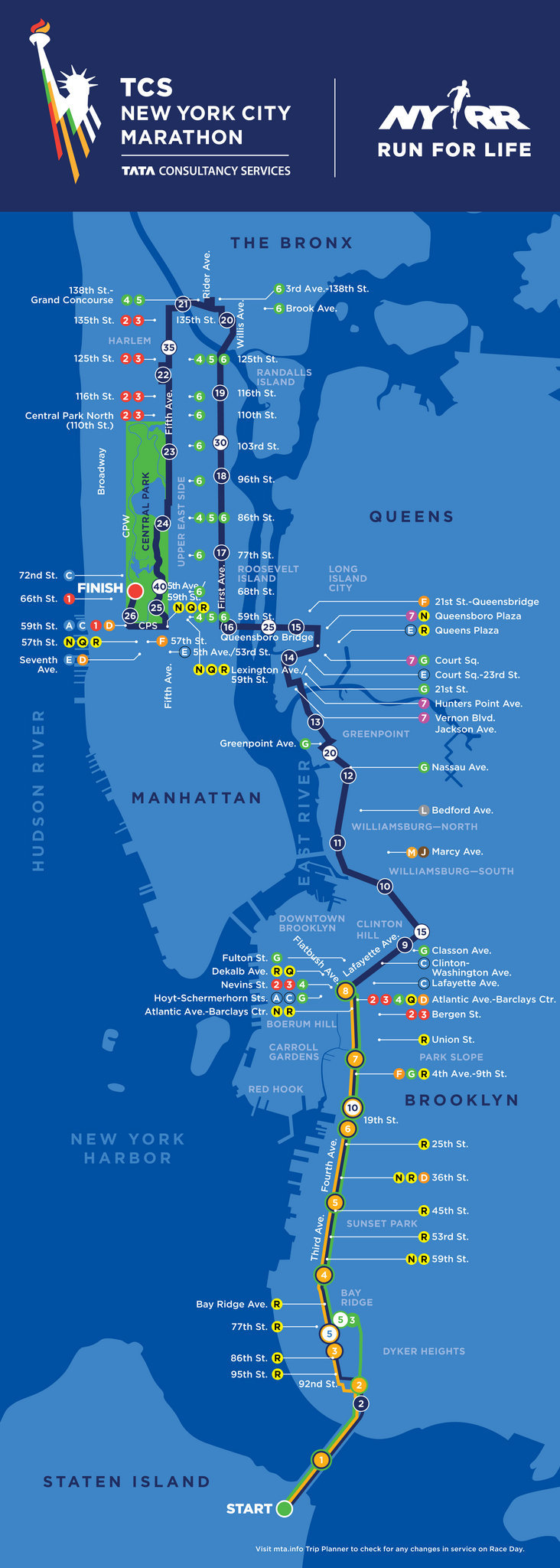 Image result for nyc marathon route map