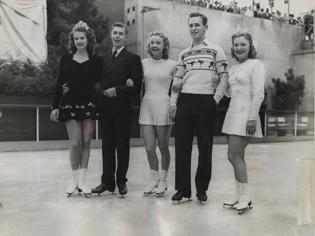 Go back in time with these vintage photos of The Rink at Rockefeller Center