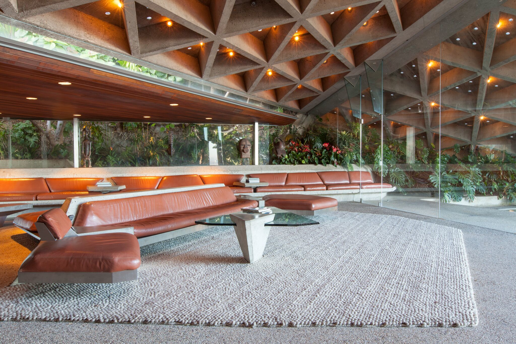 A living room made of concrete (seriously)