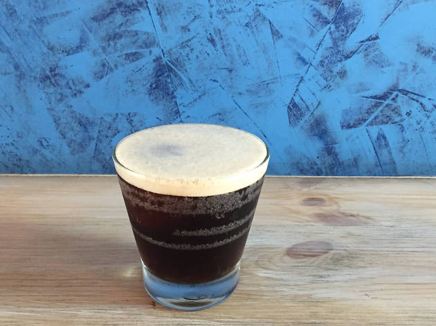 Seven Cups Iced Lime Black Brew
