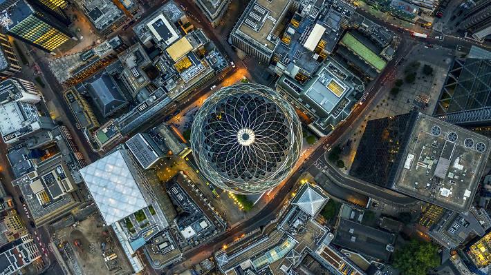 Достопримечательности Лондона с высоты (Фотографии)
