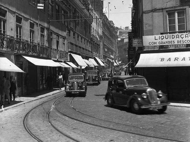 Taxis em Lisboa na década de 30