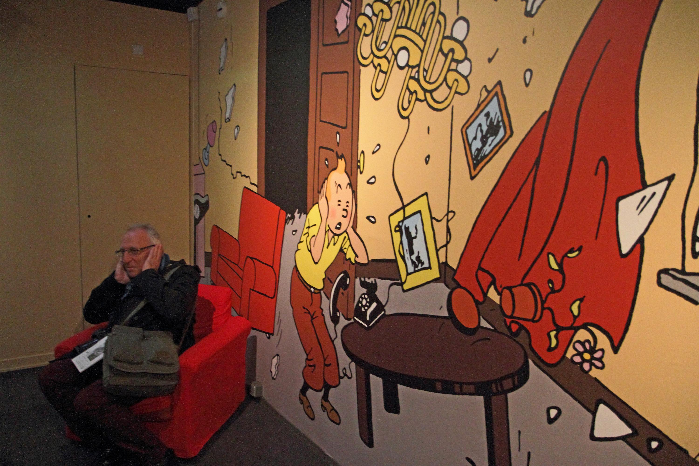Exposé au Grand Palais, Hergé vole presque la vedette à Tintin
