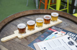 Time Out Hop Up beer paddle