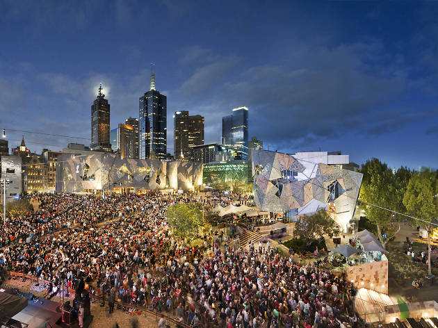Fed Square on Australia Day
