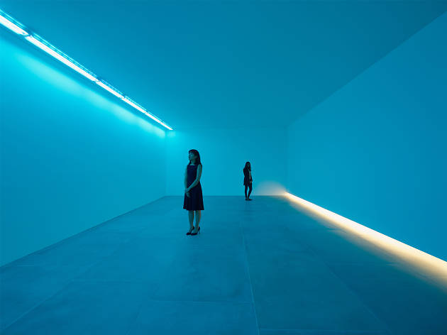 Bruce Nauman: Natural Light, Blue Light Room