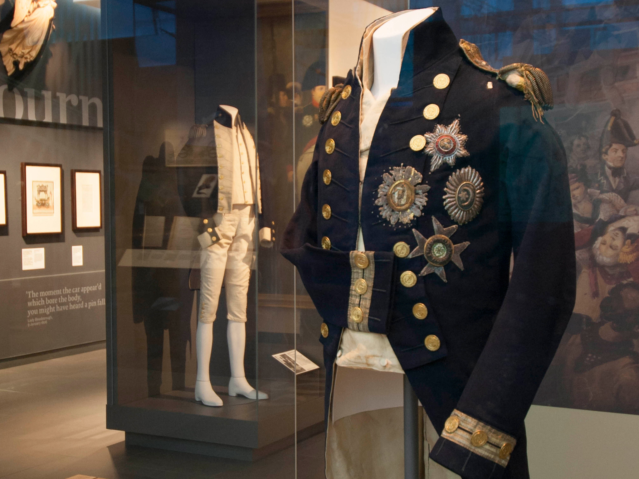 See Nelson's blood-stained uniform from the Battle of Trafalgar