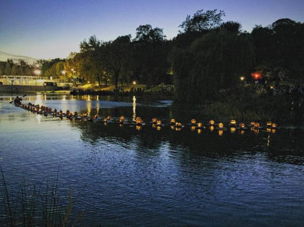 The pumpkin flotilla will make Central Park extra spooky this Halloween