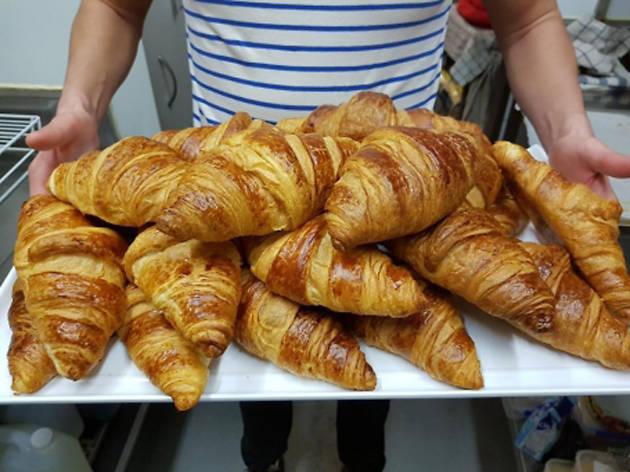 Croissants at Bonjour Café