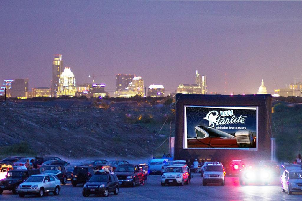Blue Starlite Mini Urban Drive-In movie theater