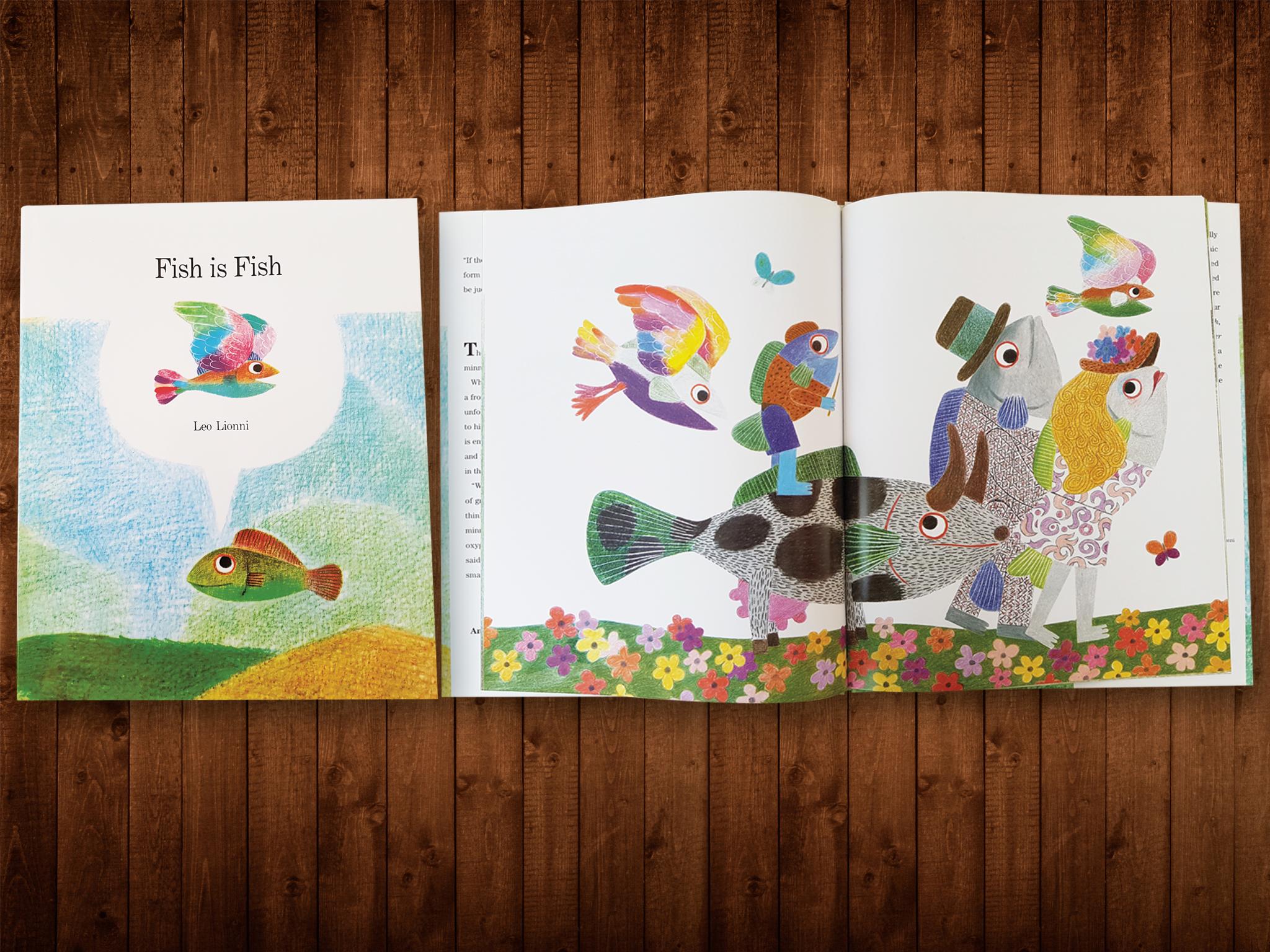 Libro para niños Fish is Fish