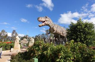 A large T-rex sculpture at Wet'n'Wild in Prospect, Blacktown