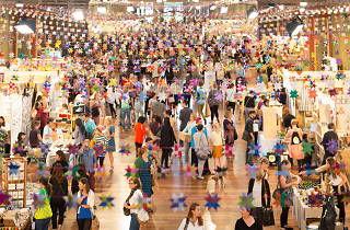 People shopping at the Big Design Market