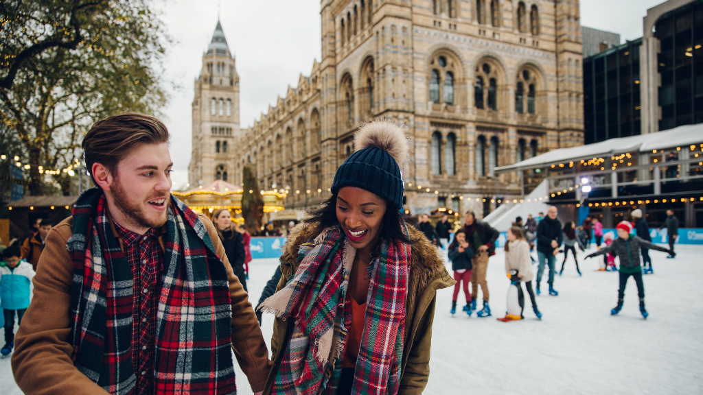 Win a hotel stay, food and drink, and Natural History Museum ice skating tickets