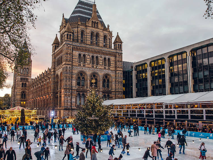 Be one of the first visitors to the last ever Natural History Museum Ice Rink