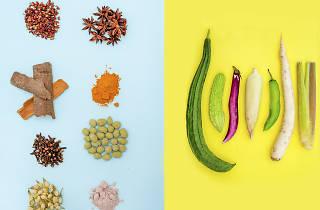 Especiarias e vegetais que se encontram na Mouraria