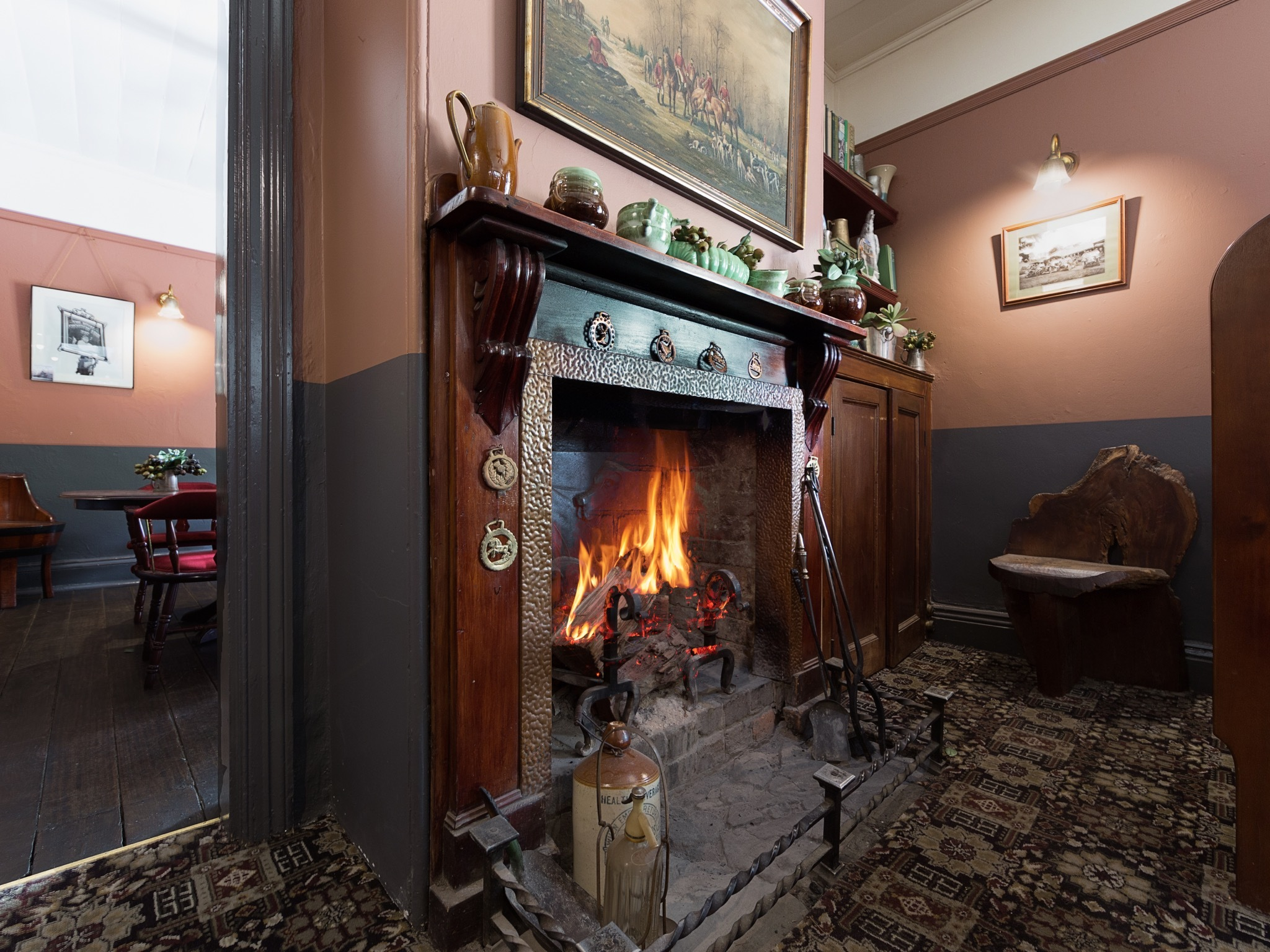 Fireplace at Royal Cricketers Arms