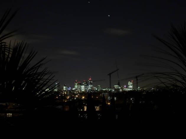 London night sky, Flickr 2016