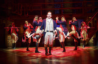 Miguel Cervantes and the Chicago cast of Hamilton