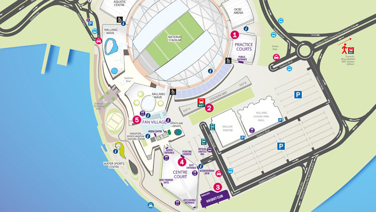 Map and directions to WTA Finals Singapore