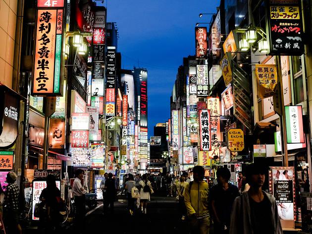 Take in the bright neon lights: Shinjuku and Golden Gai