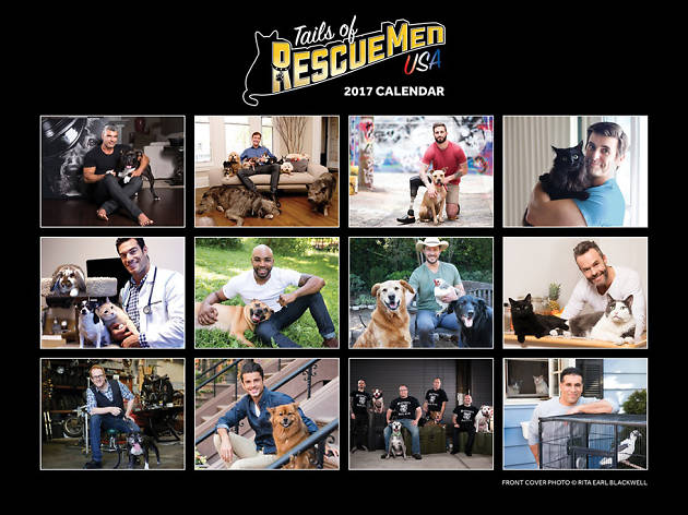 For the animal—and hunk—lover: Tails of Rescue Men 2017 calendar