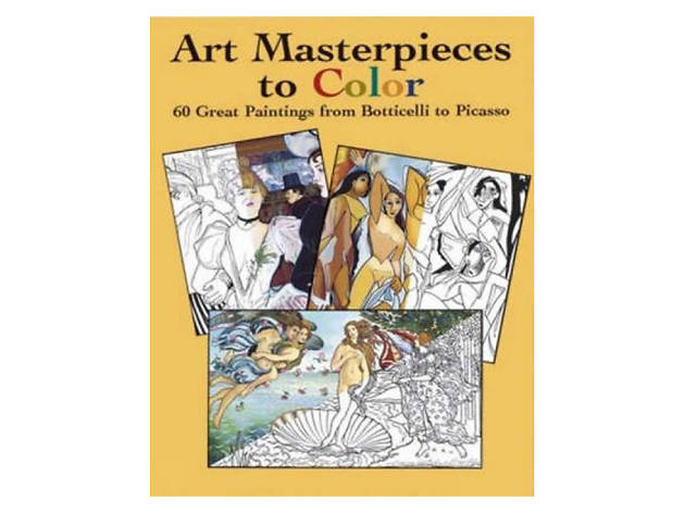 For the art lover: Dover Art coloring book