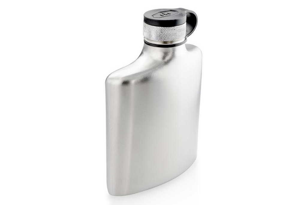 For the party animal: Glacier stainless steel hip flask