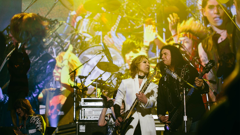 Yoshiki and Gene Simmons