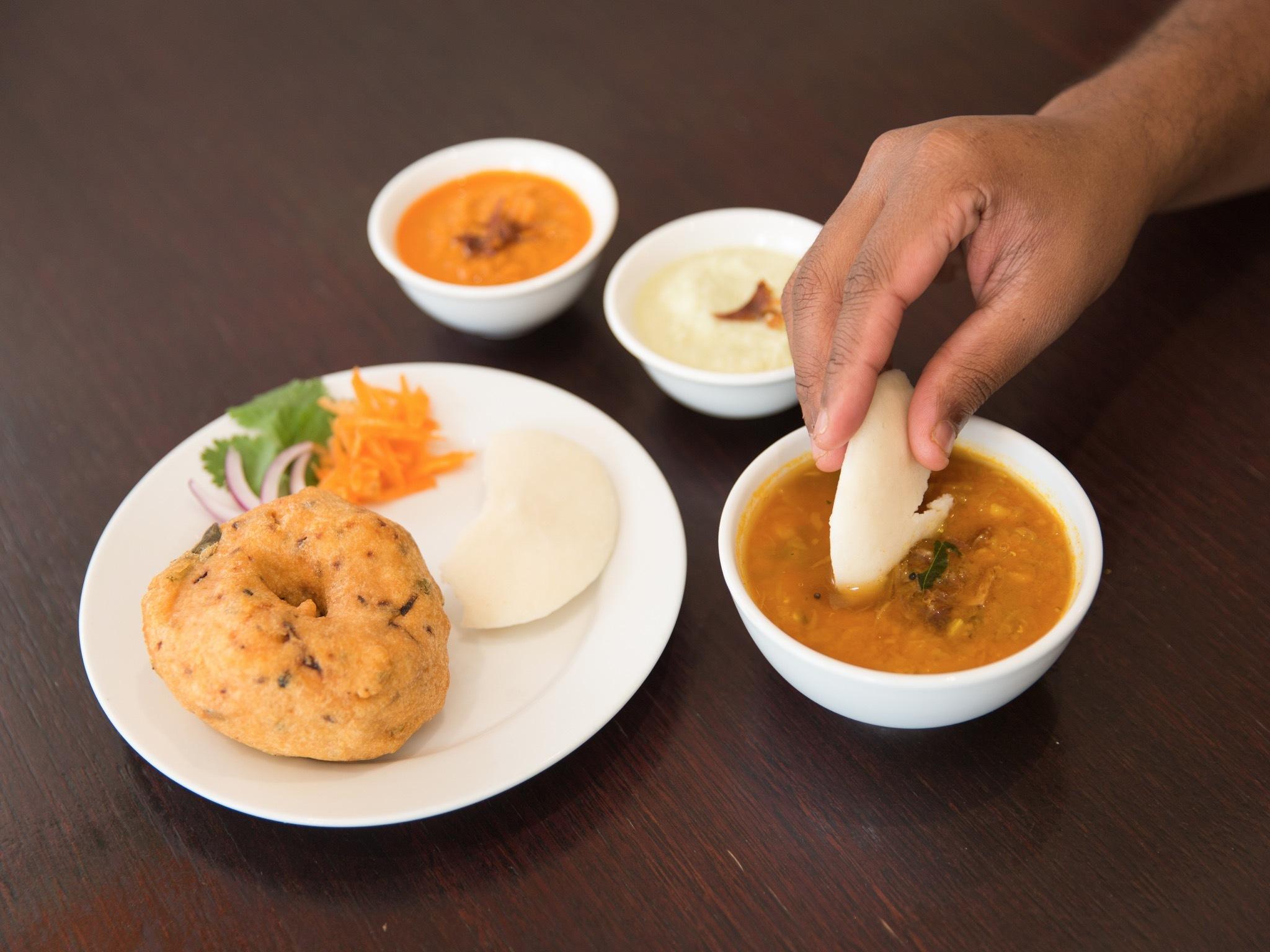 Vadai Idly Sambar at Indo Lankan Food Bar