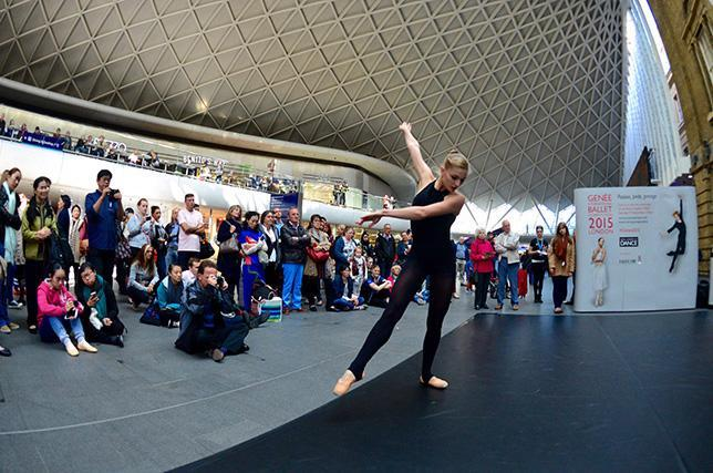 The Royal Academy of Dance is putting on a free show at King's Cross station this weekend