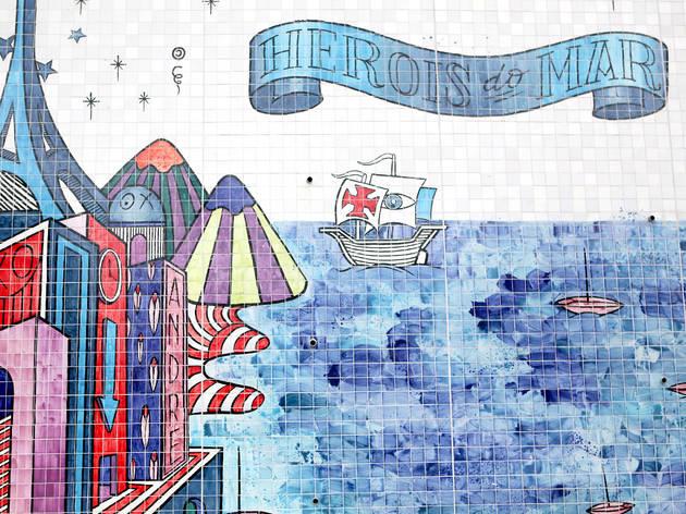 Mural de André Saraiva (Fotografia: Ana Luzia)
