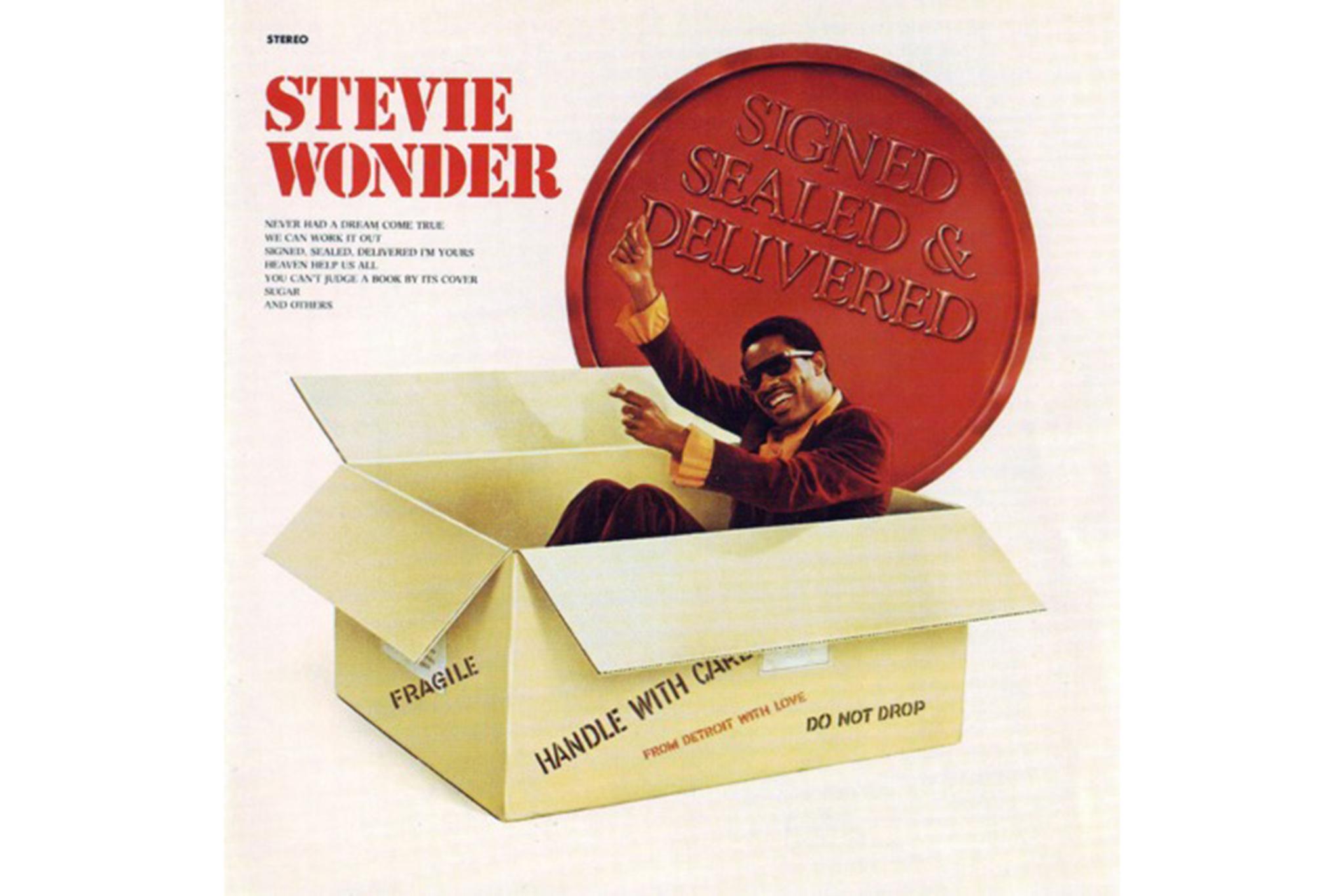 """""""Signed, Sealed, Delivered,"""" Stevie Wonder"""