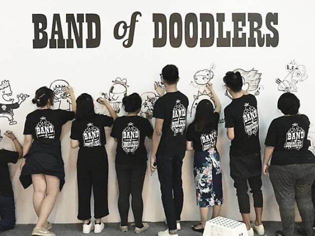 Floor Mural by Band of Doodlers