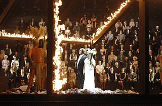 Stefan Vinke as Siegfried & Susan Bullock as Brunnhilde in Opera Australia's The Melbourne Ring Cycle 2013