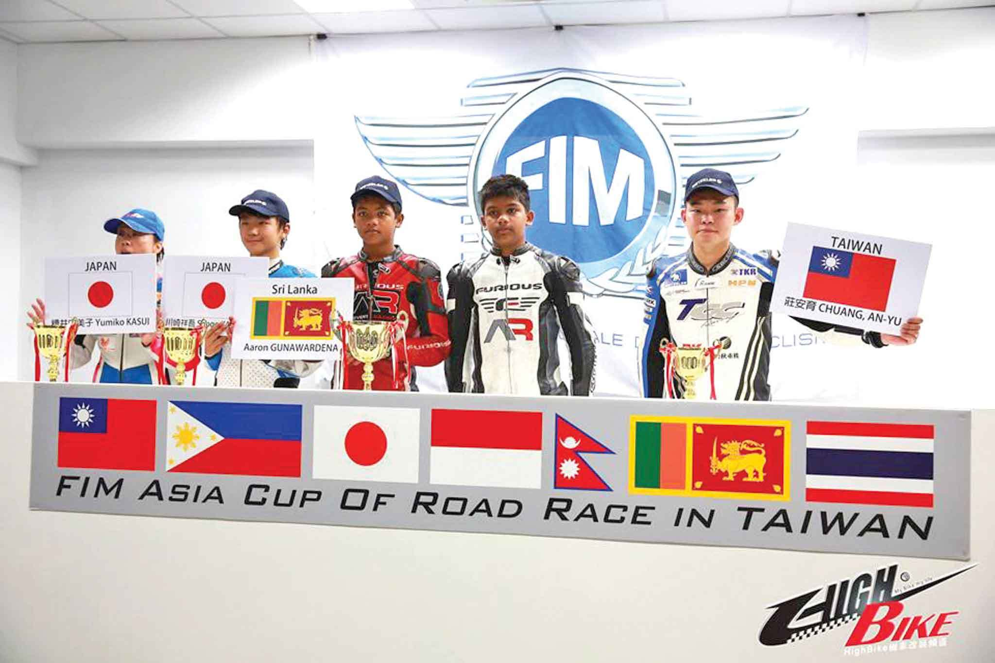 Q: You mentioned International Racing. Where have the boys taken part?