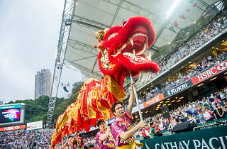 Open ceremony as part of the Cathay Pacific / HSBC Hong Kong Sevens at the Hong Kong Stadium on 08 April 2016 in Hong Kong, China. Photo by Xaume Olleros / Future Project Group