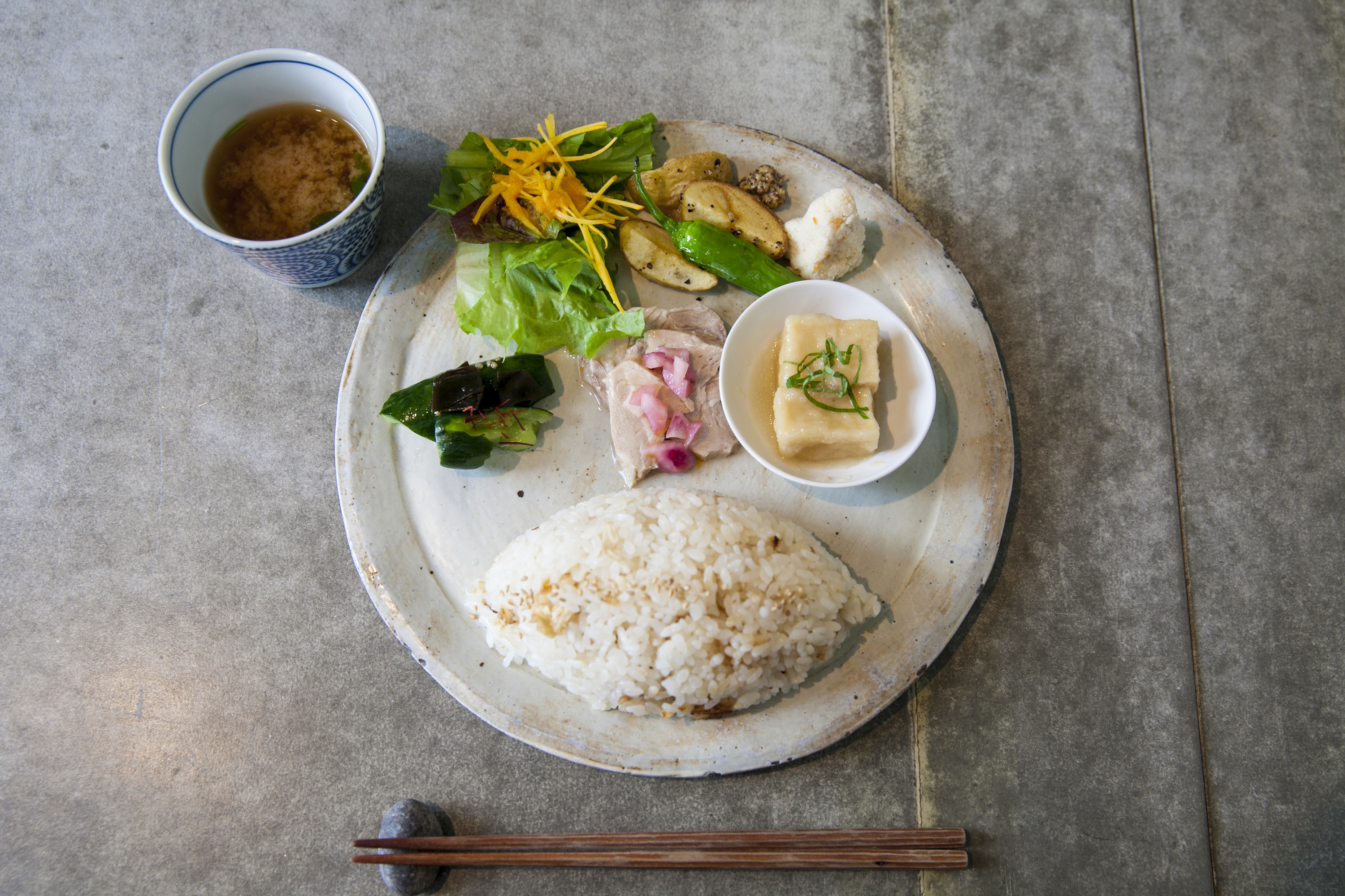 Dig into Japanese lunch…