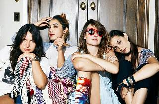 The four band members of Warpaint