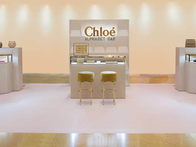 Chloe Alphabet Bar Pop Up Store Shopping In Hong Kong