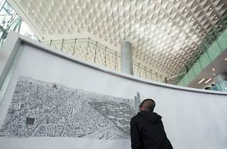 Stephen Wiltshire  dibuja la Ciudad de México
