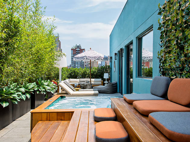 The best NYC hotels with Jacuzzis in rooms and on roofs