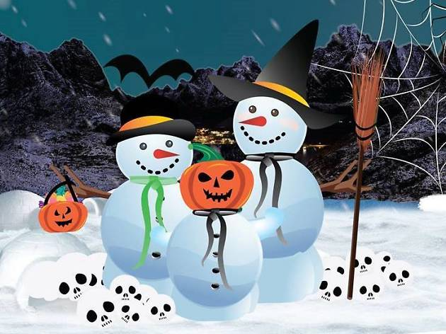 Halloween in the Snow