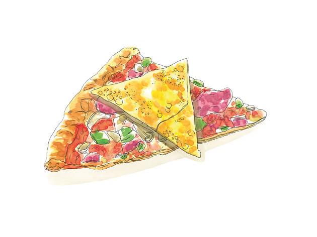 Ilustração de pizza