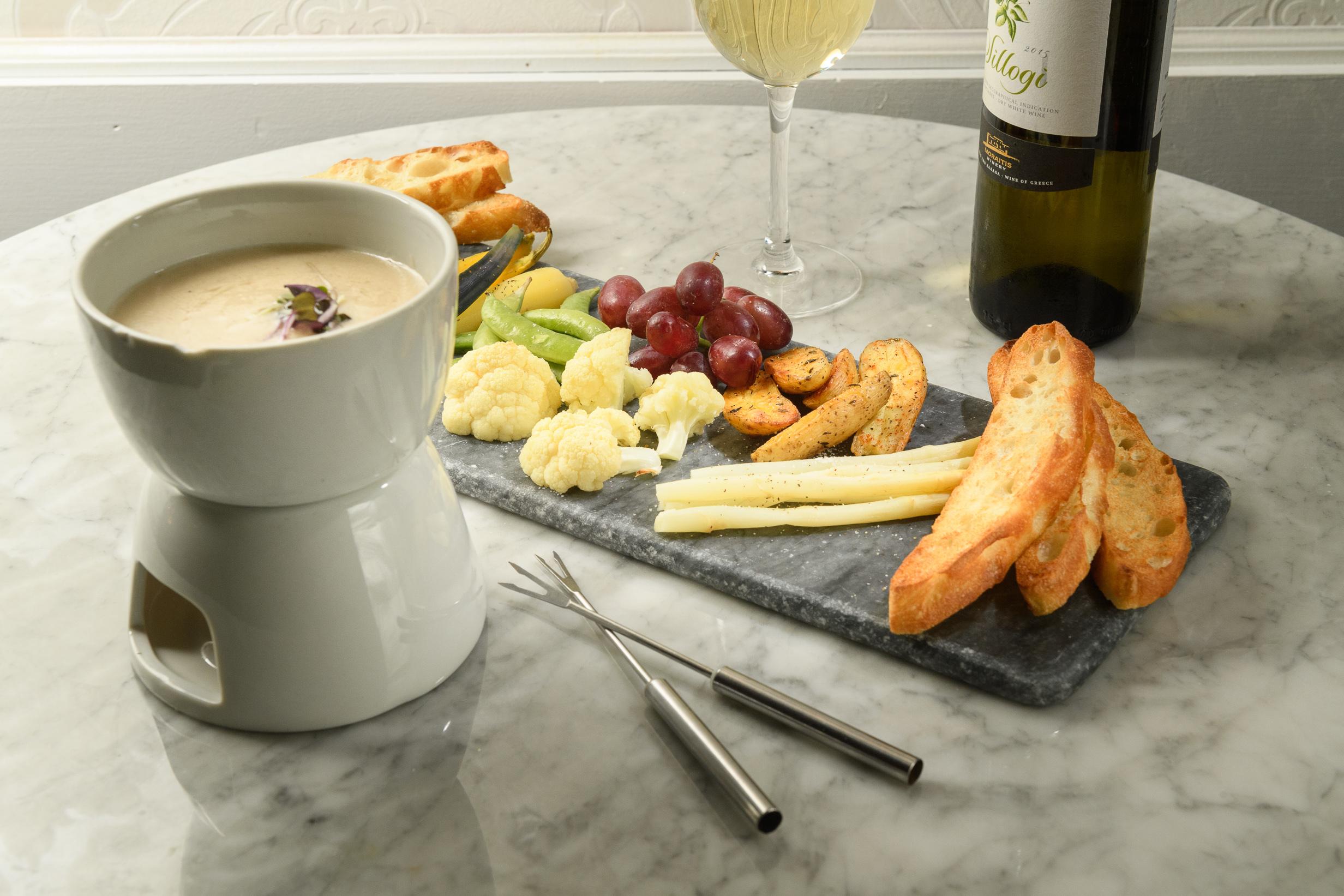 Chardonnay fondue at Ladybird