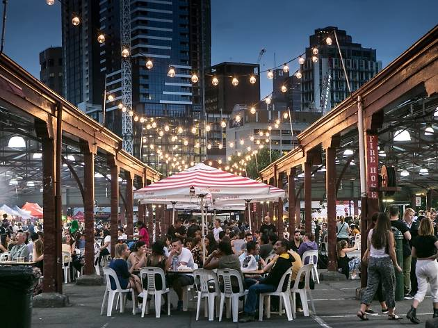 Summer night markets in Melbourne