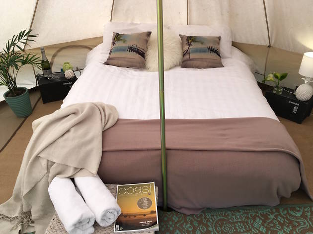 Phillip Island Glamping inside of tent