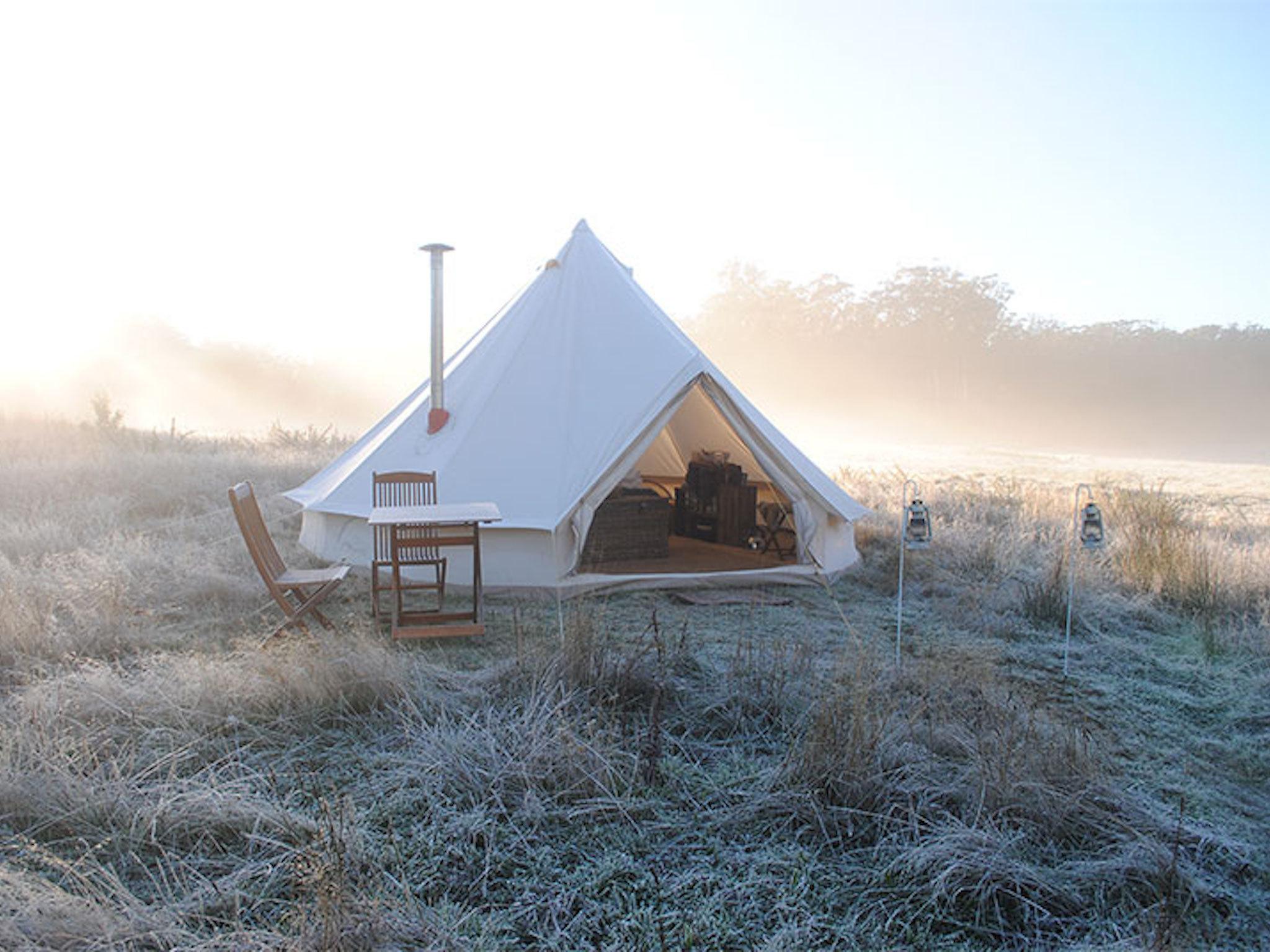Tent in a plain