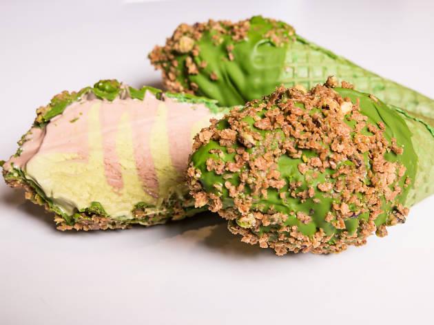 Gelato messina matcha ice cream cone