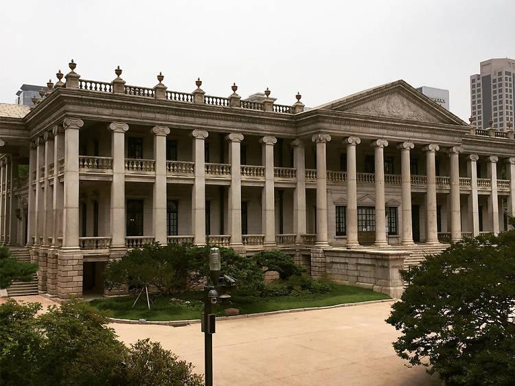 Free tour of Deoksugung's Seokjojeon Hall, Korea's first European-style stone building
